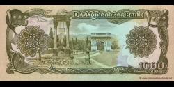 Afghanistan - p61c - 1.000 Afghanis - SH 1370 (1991) - Da Afghanistan Bank