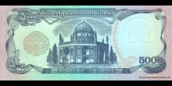 Afghanistan - p62 - 5.000 Afghanis - SH 1372 (1993) - Da Afghanistan Bank
