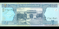 Afghanistan - p65a - 2 Afghanis - SH 1381 (2002) - Da Afghanistan Bank