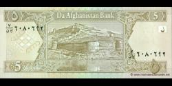Afghanistan - p66a - 5 Afghanis - SH 1381 (2002) - Da Afghanistan Bank