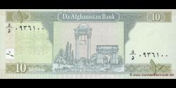 Afghanistan - p67b - 10 Afghanis - SH 1383 (2004) - Da Afghanistan Bank