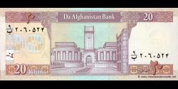 Afghanistan - p68a - 20 Afghanis - SH 1381 (2002) - Da Afghanistan Bank