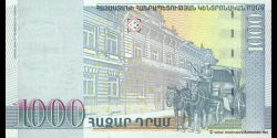 Arménie - p50 - 1.000 Dram - 2001 - Central Bank of the Republic of Armenia