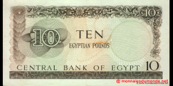 Egypte - p41 - 10 pounds - 1965 - Central Bank of Egypt