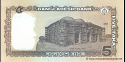 Bangladesh - p53a - 5 Taka - 2011 - Bangladesh Bank