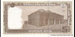 Bangladesh - p53c - 5 Taka - 2014 - Bangladesh Bank