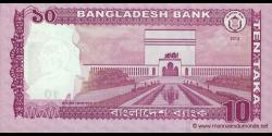 Bangladesh - p54a - 10 Taka - 2012 - Bangladesh Bank