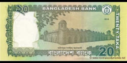 Bangladesh - p55Ac - 20 Taka - 2014 - Bangladesh Bank