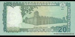 Bangladesh - p55b - 20 Taka - 2012 - Bangladesh Bank