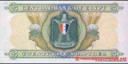 Egypte - p42 - 25 piatres - 1967 - Central Bank of Egypt