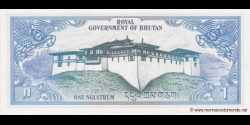 Bhoutan - p05 - 1 Ngultrum - ND (1981) - Royal Government of Bhutan / Bank of Bhutan