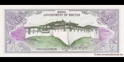 Bhoutan - p06 - 2 Ngultrum - ND (1981) - Royal Government of Bhutan / Bank of Bhutan