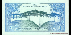 Bhoutan - p12a - 1 Ngultrum - ND (1986) - Royal Monetary Authority of Bhutan