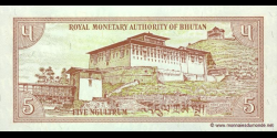 Bhoutan - p14b - 5 Ngultrum - ND (1985) - Royal Monetary Authority of Bhutan
