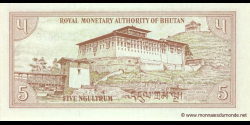 Bhoutan - p14a - 5 Ngultrum - ND (1985) - Royal Monetary Authority of Bhutan
