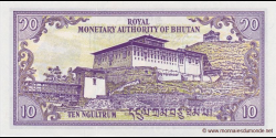 Bhoutan - p15b - 10 Ngultrum - ND (1986 - 2000) - Royal Monetary Authority of Bhutan