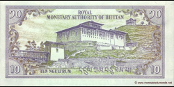 Bhoutan - p22 - 10 Ngultrum - ND (2000) - Royal Monetary Authority of Bhutan