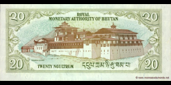 Bhoutan - p23 - 20 Ngultrum - ND (2000) - Royal Monetary Authority of Bhutan