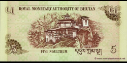 Bhoutan - p28a - 5 Ngultrum - 2006 - Royal Monetary Authority of Bhutan