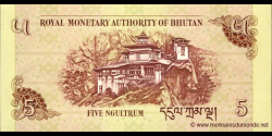 Bhoutan - p28b - 5 Ngultrum - 2011 - Royal Monetary Authority of Bhutan