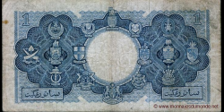 Malaya and British Borneo - p1a - 1 Dollar - 21.03.1953 - Board of Commissioners of Currency