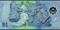 Bruneï - p22a - 1 Ringgit / Dollar - 1996 - Negara Brunei Darussalam / State of Brunei Darussalam