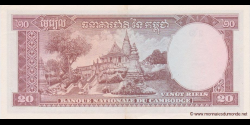 Cambodge - p05d - 20 Riels - ND (1956 - 1975) - Banque Nationale du Cambodge