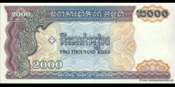 Cambodge - p40 - 2.000 Riels - 1992 - National Bank of Cambodia