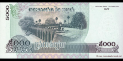 Cambodge - p55b - 5.000 Riels - 2002 - National Bank of Cambodia