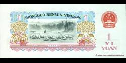 Chine - p874a - 1 Yuan - 1960 - Peoples Bank of China