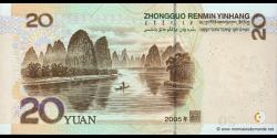 Chine - p905 - 20 Yuan - 2005 - Peoples Bank of China
