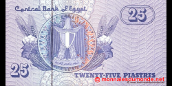 Egypte - p57d - 25 piastres - 20.12.2001 - Central Bank of Egypt