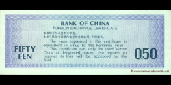 Chine - pFX2 - 0,50 Yuan - 1979 - Bank of China