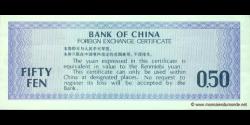 Chine - pFX2 - 0,50 Yuan - 1979 - Bank of China
