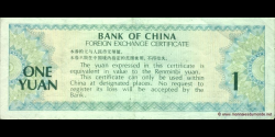 Chine - pFX3 - 1 Yuan - 1979 - Bank of China