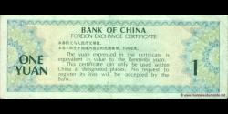Chine - pFX3 - 1 Yuan - 1979 - Bank of China