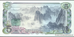 Corée du Nord - p19b - 5 Won - 1978 - Central Bank of the Democratic Peoples Republic of Korea