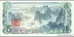 Corée du Nord - p19c - 5 Won - 1978 - Central Bank of the Democratic Peoples Republic of Korea