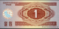 Corée du Nord - p35 - 1 Won - 1988 - Central Bank of the Democratic Peoples Republic of Korea