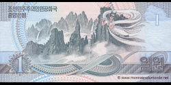 Corée du Nord - p39S - 1 Won - 1992 - Central Bank of the Democratic Peoples Republic of Korea