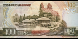 Corée du Nord - p43a - 100 Won - 1992 - Central Bank of the Democratic Peoples Republic of Korea