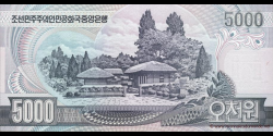 Corée du Nord - p46b - 5.000 Won - 2006 - Central Bank of the Democratic Peoples Republic of Korea