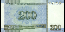 Corée du Nord - p48 - 200 Won - 2005 - Central Bank of the Democratic Peoples Republic of Korea