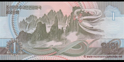 Corée du Nord - p49 - 1 Won - 1992 (2007) - Central Bank of the Democratic Peoples Republic of Korea