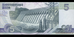 Corée du Nord - p58 - 5 Won - 2002 (2009) - Central Bank of the Democratic Peoples Republic of Korea
