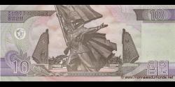 Corée du Nord - p68 - 10 Won - 2002 (OP 2012) - Central Bank of the Democratic Peoples Republic of Korea