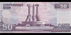 Corée du Nord - p69 - 50 Won - 2002 (OP 2012) - Central Bank of the Democratic Peoples Republic of Korea