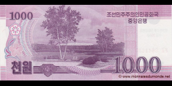 Corée du Nord - pCS15(1) - 1.000 Won - 2008 (OP 2012) - Central Bank of the Democratic Peoples Republic of Korea