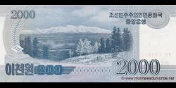 Corée du Nord - p74 - 2.000 Won - 2008 (OP 2012) - Central Bank of the Democratic Peoples Republic of Korea