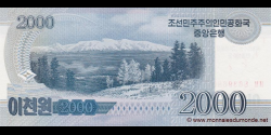 Corée du Nord - pCS16(1) - 2.000 Won - 2008 (OP 2012) - Central Bank of the Democratic Peoples Republic of Korea
